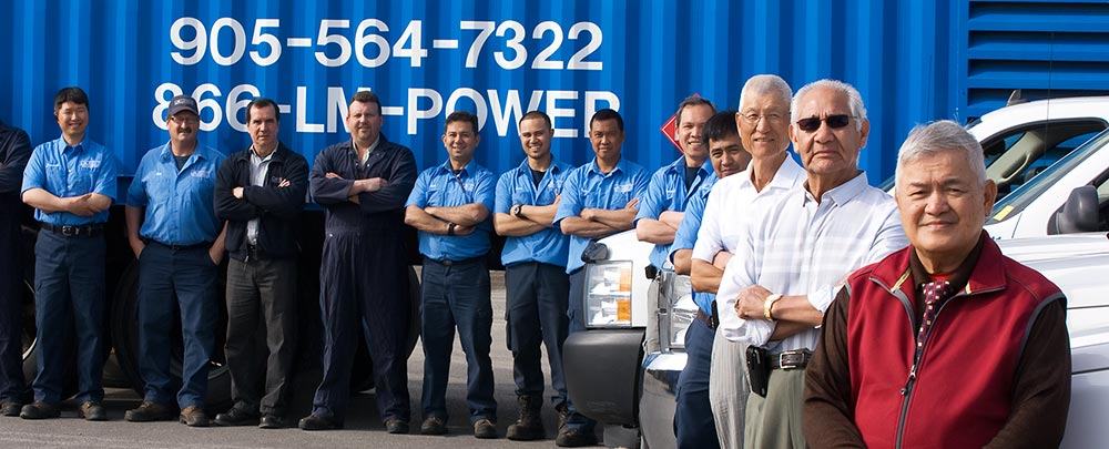 rental power generator Toronto crew