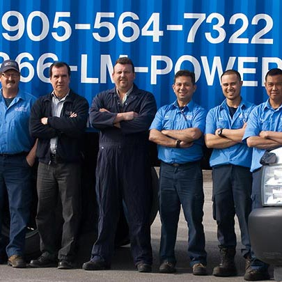 power generator rental Toronto crew